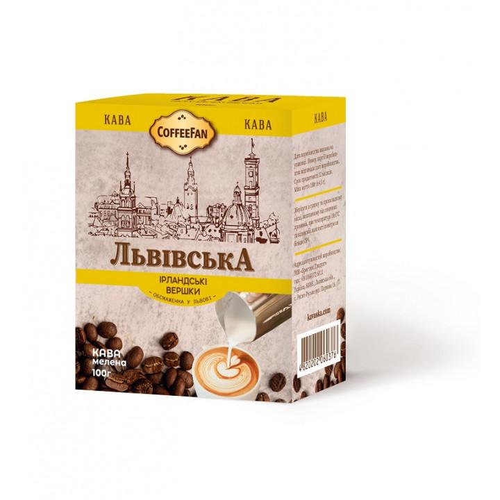 Кава з ароматом ірландських вершків мелена дрібний помол 100г