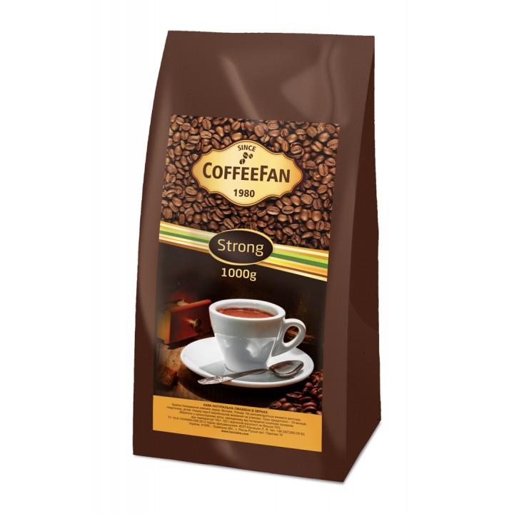 "Кава ""CoffeeFan"" Strong зерно 1000г"